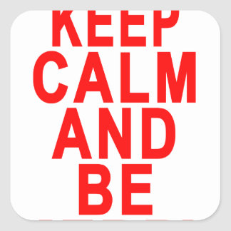 Keep Calm and Be Merry Christmas Women's T-Shirts. Square Sticker
