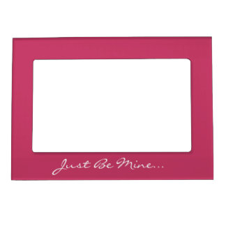 Keep Calm and Be My Valentine Berry Magnetic Photo Frame