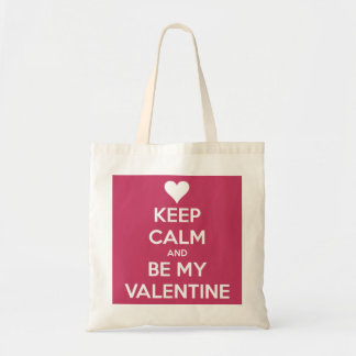 Keep Calm and Be My Valentine Berry Pink Bag