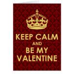 Keep Calm and Be My Valentine - Fleur-de-lys Card