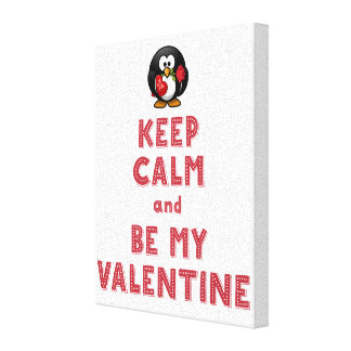 Keep Calm and Be My Valentine Wrapped Canvas 8x10