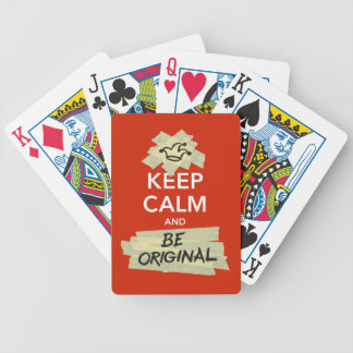 Keep Calm and Be Original Bicycle Playing Cards