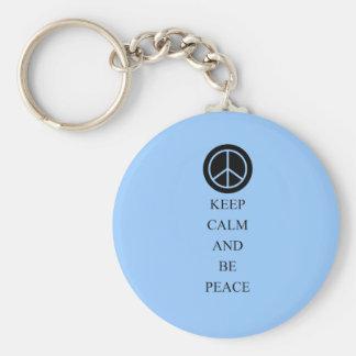 Keep Calm and Be Peace Keychain
