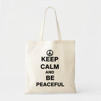 Keep Calm and Be Peaceful Tote Bag