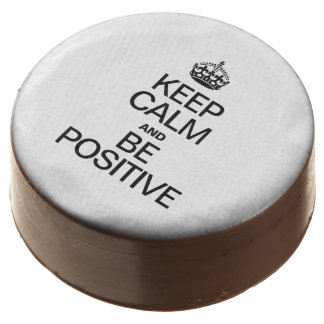 KEEP CALM AND BE POSITIVE CHOCOLATE DIPPED OREO