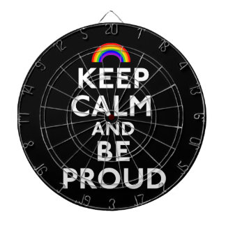Keep Calm and Be Proud Dartboard