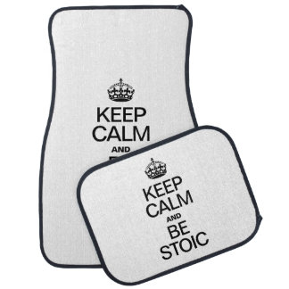 KEEP CALM AND BE STOIC CAR MAT