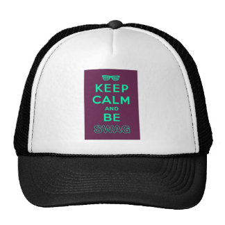 Keep Calm and Be Swag Sunglasses slogan Trucker Hat