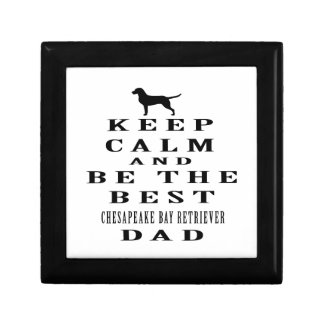 Keep calm and be the best Chesapeake Bay Retriever Jewelry Boxes