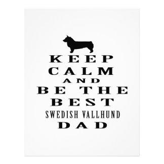 Keep Calm And Be The Best Swedish Vallhund Dad Custom Letterhead