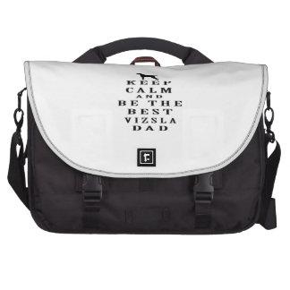 Keep Calm And Be The Best Vizsla Dad Laptop Messenger Bag