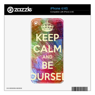 Keep Calm and Be Your Shelf iPhone 4 Decals