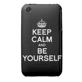 KEEP CALM AND BE YOURSELF iPhone 3 COVER