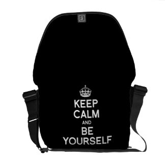 KEEP CALM AND BE YOURSELF COURIER BAGS