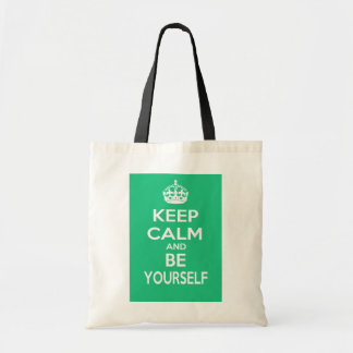 Keep Calm and Be Yourself Tote Bag