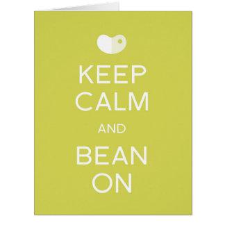 KEEP CALM and BEAN ON lima bean design GIANT card