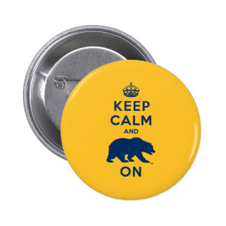 Keep Calm and Bear On 2 Inch Round Button