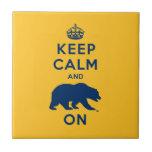 Keep Calm and Bear On Ceramic Tile