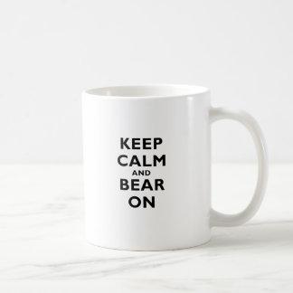 Keep Calm and Bear On Coffee Mug