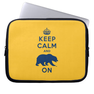 Keep Calm and Bear On Computer Sleeves