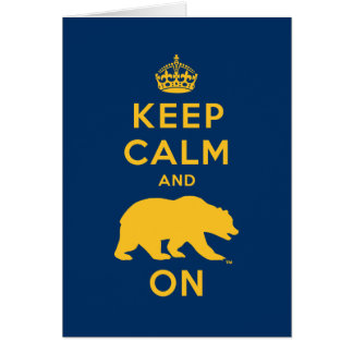 Keep Calm and Bear On - Gold Greeting Card
