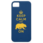 Keep Calm and Bear On - Gold iPhone 5 Cases