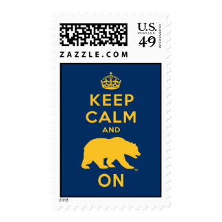 Keep Calm and Bear On - Gold Postage Stamps