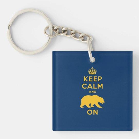 Keep Calm and Bear On Keychain