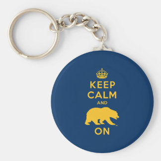 Keep Calm and Bear On Keychain
