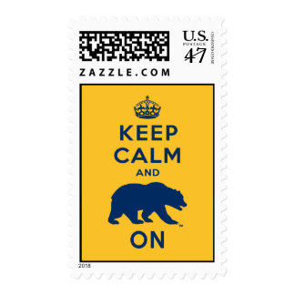 Keep Calm and Bear On Postage