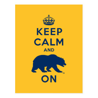 Keep Calm and Bear On Postcard