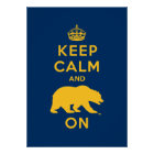 Keep Calm and Bear On Poster