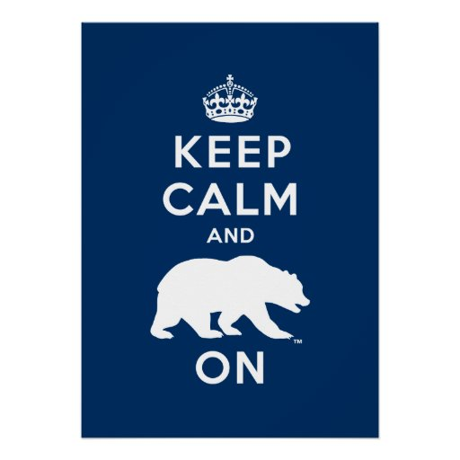 Keep Calm and Bear On - White Print