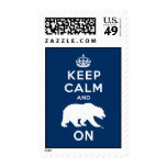 Keep Calm and Bear On - White Stamps