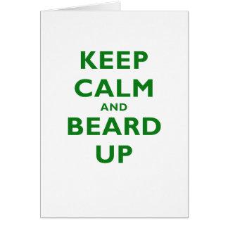 Keep Calm and Beard Up Card