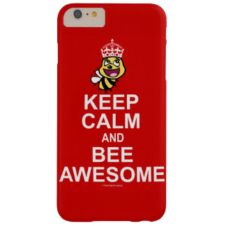 Keep calm and bee awesome barely there iPhone 6 plus case