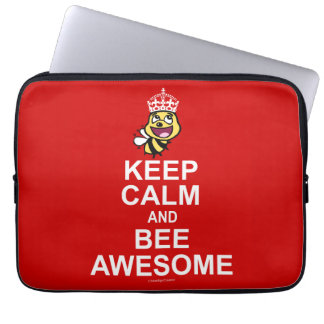 Keep calm and bee awesome computer sleeve