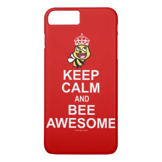 Keep calm and bee awesome iPhone 7 plus case