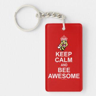 Keep calm and bee awesome keychain