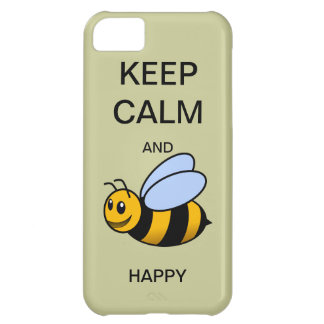 KEEP CALM AND BEE HAPPY CaseMate iPhone 5 Case