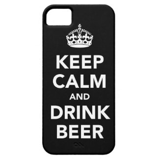 Keep Calm and Beer alcohol drink beverage football iPhone SE/5/5s Case