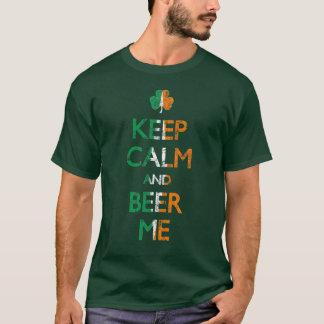 Keep Calm and Beer Me Irish Flag Shamrock Shirt