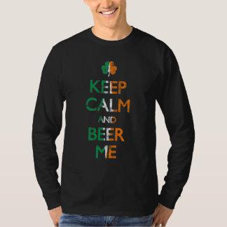 Keep Calm and Beer Me Irish Shamrock Shirt