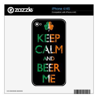 Keep Calm And Beer Me Irish Themed iPhone Skin iPhone 4 Skin