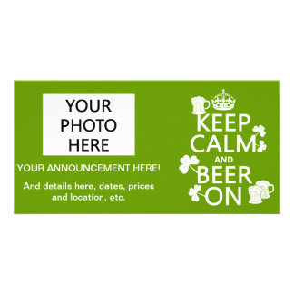 Keep Calm and Beer On (irish) (any color) Card