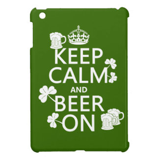 Keep Calm and Beer On (irish) (any color) Cover For The iPad Mini