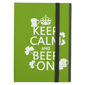 Keep Calm and Beer On (irish) (any color) iPad Air Case