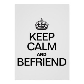 KEEP CALM AND BEFRIEND POSTER