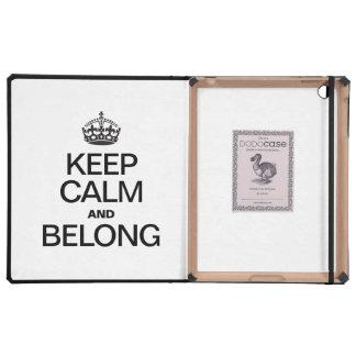 KEEP CALM AND BELONG iPad FOLIO CASE