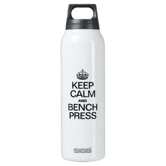 KEEP CALM AND BENCH PRESS 16 OZ INSULATED SIGG THERMOS WATER BOTTLE